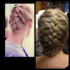 (Grey's Anatomy S.2 Ep.6) Izzie Stevens' Braid Tutorial:  It's basically just a normal french braid and then fold the bottom 'tail' in half and then tuck it under the top half of the braid and then just use bobby pins to secure it. Source(s):