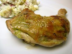 Grilled Garlic Scape Pesto Chicken by katbaro, via Flickr