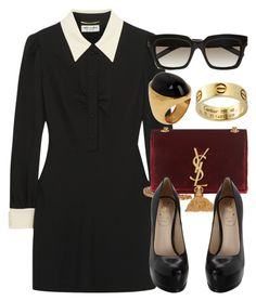 """Style #9022"" by vany-alvarado ❤ liked on Polyvore featuring Yves Saint Laurent and Fendi"