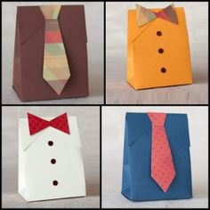 Father's Day DIY: Suit  Tie Gift Bag http://www.househunt.com/news-realestate/fathers-day-diy/