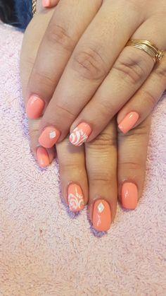 Verniz de gel com relevo de acrílico. Nail art My Nails, Nail Art Designs, Fashion Beauty, Finger Nails, Nail Designs