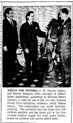 Barney  Sampson, (Lewis Sampson son?) page 37 of: San Antonio Express January 7, 1940