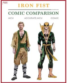 """257 Likes, 11 Comments - • Accurate.MCU • mcu fanpage (@accurate.mcu) on Instagram: """"• IRON FIST - COMIC COMPARISON • WHO IS HYPED FOR IRON FIST ? And who is going to stay up…"""""""