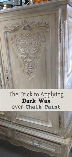 Trick to Applying Dark Wax Over Chalk Paint on Furniture by queenchannie