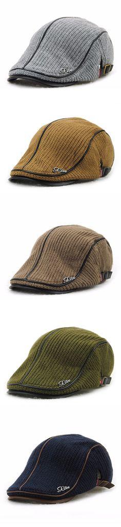 Men&Women Knitting Beret Caps: Buckle /Adjustable /Casual /Outdoors