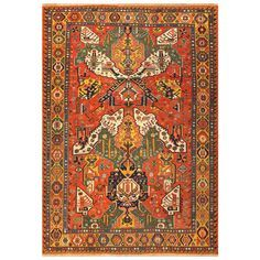 Antique Caucasian Dragon Soumak Rug | From a unique collection of antique and modern caucasian rugs at https://www.1stdibs.com/furniture/rugs-carpets/caucasian-rugs/