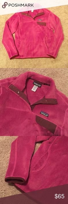 Patagonia Snap T Fleece Pullover in Fuschia Excellent used condition. Received for Christmas last year and it's too small! Only worn a few times. Patagonia Jackets & Coats Utility Jackets