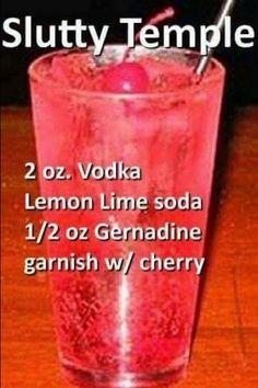 Liquor Drinks, Vodka Drinks, Cocktail Drinks, Cocktail Recipes, Vodka Martini, Vodka Lemonade, Party Drinks Alcohol, Mixed Drinks Alcohol, Alcohol Drink Recipes
