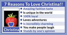 7 Reasons To Love You!
