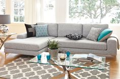 Abilene Seat Fabric Sofa with Chaise by Garry Masters Sofa Cleaning Services, Clean Sofa, Lounge Suites, Chaise Sofa, How To Clean Carpet, Fabric Sofa, Auckland, Sofas, Couches