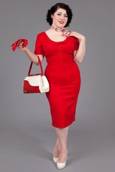 Pan Red 40's Dress by Glamour Bunny