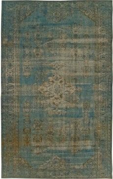 Blue Second Life Rug eclectic rugs