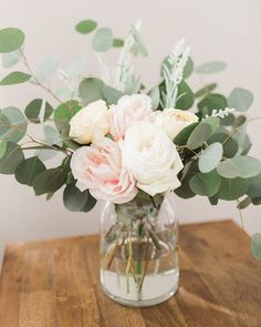 Who else loves having fresh flowers in their home? Garden Roses and Silver Dolla. Who else loves having fresh flowers in their home? Garden Roses and Silver Dollar Eucalyptus is one of our favorite comb. Fresh Flowers, Beautiful Flowers, Exotic Flowers, Purple Flowers, Wild Flowers, Beautiful Pictures, Floral Wedding, Wedding Flowers, Purple Wedding