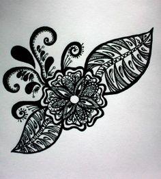 a zentangle flower #zentangle #zendoodle