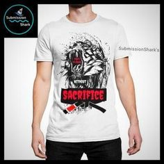 No Reward Without Sacrifice | Submission Shark's Fitness Clothing BJJ #red #tshirt #casualstyle #jiujitsu #mma #lion
