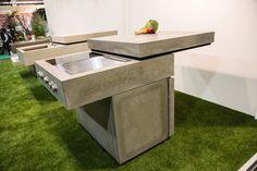 Messeauftritt #Blühendes Österreich in Wels-Concreto Kitchen Island, Concrete, Table, Design, Furniture, Home Decor, Wels, Island Kitchen, Decoration Home