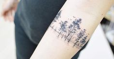 Artista Tatuador: Banul. Tags: estilos, Ilustración, Reconstrucciones, Naturaleza, Bosques. Partes del cuerpo: Antebrazo.