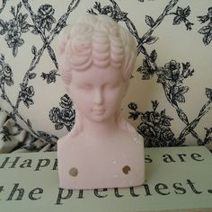 Vintage porcelain doll head, ceramic doll bust, Victorian revival doll head for art projects, assemblage collage art kit, curiosities shelf by TheRustyWanderer on Etsy