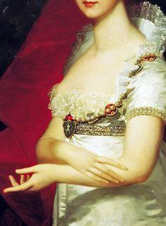 Jean-Laurent Mosnier,Elizaveta wife of tsar Alexander (detail) 1807