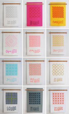 Linda & Harriett's neon quilt 2013 calendar