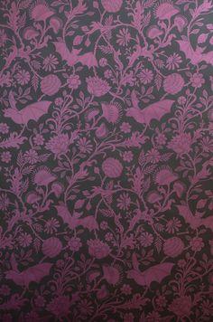 Purple bat wallpaper