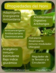 Propiedades y Componentes del #Noni - Club Salud Natural