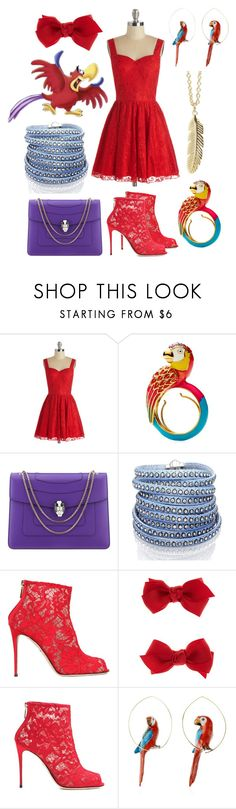 """""""Iago"""" by even-miracles-take-a-little-time ❤ liked on Polyvore featuring Chi Chi, Juicy Couture, Bulgari, Sif Jakobs Jewellery, Dolce&Gabbana, Accessorize, Nach and Muru"""