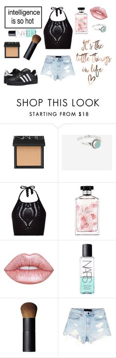 """""""Intelligence is so hot! xx"""" by sarahcb2002 ❤ liked on Polyvore featuring Rock 'N Rose, New Look, STELLA McCARTNEY, Lime Crime, NARS Cosmetics, Alexander Wang and adidas Originals"""