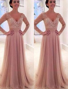 long sleeves prom dresses,blush prom dresses,two-pieces prom dresses,a-line prom dresses,formal evening gowns