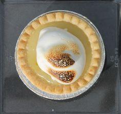 Vegan Lemon Meringue Pie made with aquafaba /chickpea brine / water.