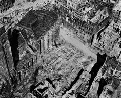 On February 13, 1945, the German city of Dresden was reduced to rubble by a series of bombings that killed 135,000. These aerial shots show the damage done across Germany during WWII: http://ti.me/1xbup0f  (Margaret Bourke-White—The LIFE Picture Collection/Getty Images)