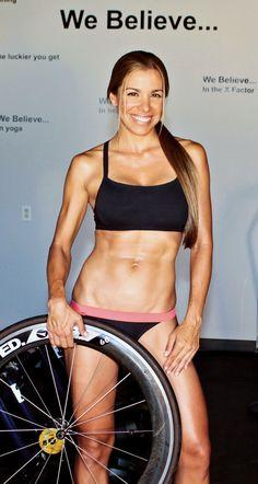 "Miss ""Triathlete.com"" August 2010 - ""Claudia"". Whatever, I just like her wheel."