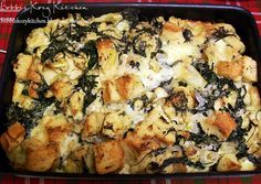 Bobbi's Kozy Kitchen: Savory Bread Pudding with Spinach, Artichoke, and Brie