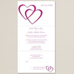 Entwined Hearts Seal And Send Wedding Invitation Bride Bells Our
