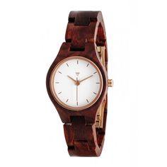 Holzuhr Kerbholz Adelheid Rosenholz Damenuhr #wood #wooden #watch #wristwatch #ecodesign #sustainable