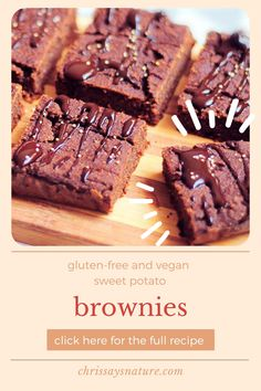If you think about brownies, you will imagine a fudgy chocolate cake with a crunchy crust and crumbly inside. This is how traditional brownie looks like. I tried to make this delicious cake a little bit healthier with several changes. As you can probably tell by the title, this is a recipe for sweet potato & carob brownies. #brownies #healthy #dessert #homemade