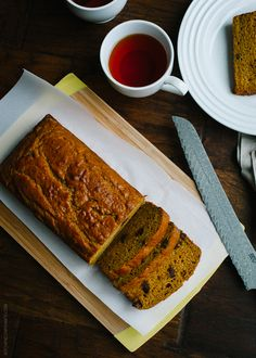 A recipe for Chocolate Chip Pumpkin Bread, made especially delicious with rich buttermilk and chocolate chips.