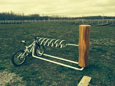 Bike rack for wine lovers.