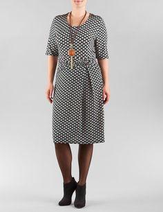 Samoon - Slinky Kleid mit Tupfen-Design (Größe 42 - 54)