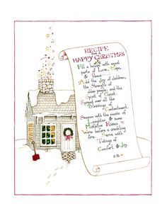 "Images of ""Recipe for a Happy Christmas"" Print"