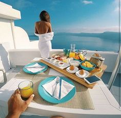Closed // We took a cruise on my yacht to Greece and we finally get there in the morning. Breakfast had just arrived and I pick up my juice and smile as I see you gaze at the view.