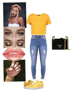 """Untitled #375"" by jazzyjada99 on Polyvore featuring Lipsy, Boohoo, Vans, Prada and David Yurman"