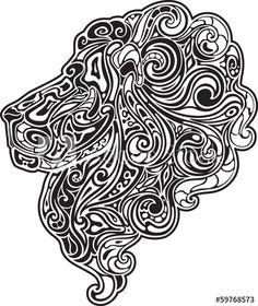 Lion head BW