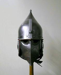 Front view - Practice Chichak helmet - 16th C. Mamluk/Ottoman. Created by Edward Shayhutdinov, Kazan, Tatarstan, Russia.