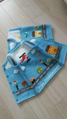 Baby Cardigan Knitting Pattern, Baby Blanket Crochet, Baby Knitting Patterns, Crochet Baby, Crochet Patterns, Knit Baby Dress, Crochet For Boys, Boys Sweaters, Crochet Fashion