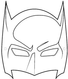 Robin Masks Colouring Pages Sample Batman Mask Template