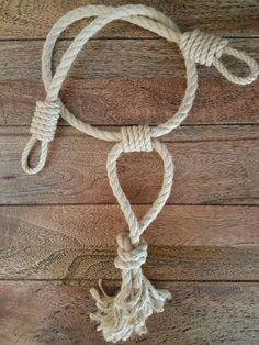 Fermatenda di corda di canapa / corda di canapa rustico lega /