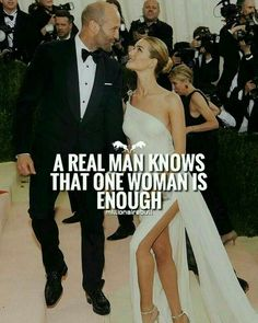 """a woman must have written that cuz no """"real"""" man is happy with just one woman Boss Quotes, True Quotes, Real Men Quotes, Qoutes, Power Couple Quotes, Gentleman Rules, Warrior Quotes, Queen Quotes, Romantic Quotes"""