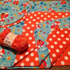 Receiving flannel blanket to hemstitch with 2 burp by ohSEWcuddly