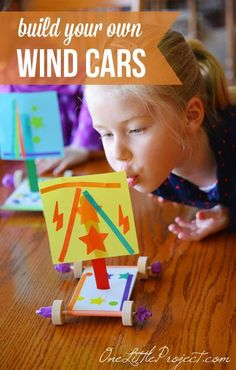 Build your own wind cars - this is such a fun activity to do with your kids!